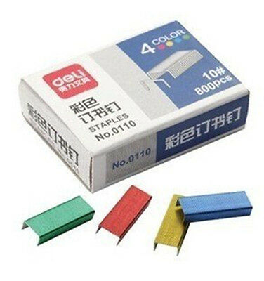 New 1600pcs Mini 4 Colors Staples 10# for use in Max HD-10DF Stapler - new hot