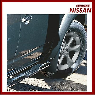 Genuine Nissan Pathfinder Mud Flaps Guards Mudguards Front Set. New!