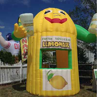 Inflatable Lemonade Stand with hands