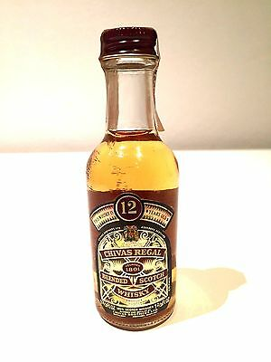 Chivas 12 Year Old Scotch Whisky Late 70's/Early 80's Rare Miniature