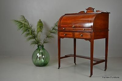Antique Edwardian Ladies Cylinder Writing Desk Bureau