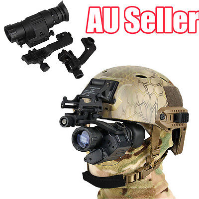 Digital IR Night Vision Mount On The Helmet For Rifle Scope Hunting Camping BO