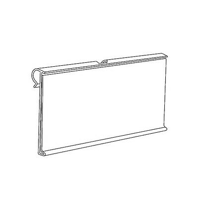 SET OF 25 EXTRUDED CLEAR PVC LABEL HOLDERS FOR HOOKS 40x90 mm (1.6''x3.5'')