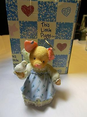 Enesco This Little Piggy Sending You The Pigs Of The Season Figurine NEW w BOX
