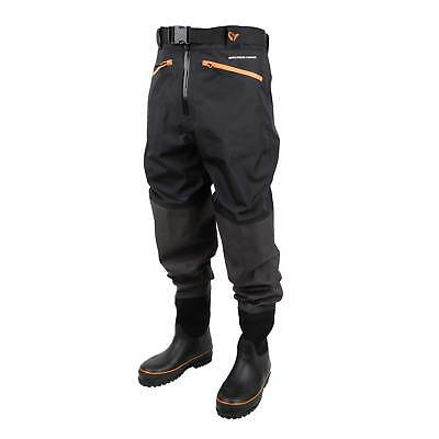 Savage Gear Breathable Waist Wader Boot Foot Cleated 44/45 - 9/10 Wathose Angeln