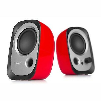 Edifier R12 Compact USB Powered PC Speakers - Red