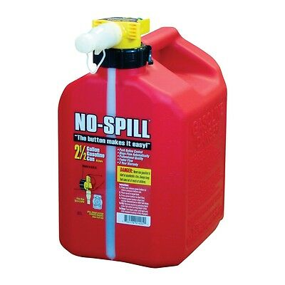 No Spill 1405 Poly Gas Can 2 1/2 (2.5) Gallon EPA And CARB Approved Fuel Can