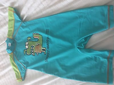 BOYS NEXT All IN ONE SNAPPY SNAPPY UV SWIMSUIT AGE 2-3 YEARS