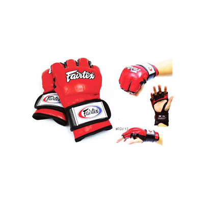 GENUINE Fairtex MMA GRAPPLING TRAINING GLOVES - OPEN THUMB LOOP - FGV12