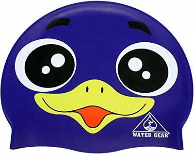 Purple Penguin Swim Cap Silicone CRITTER Learn to Bird Swimming Kids Pool Toy