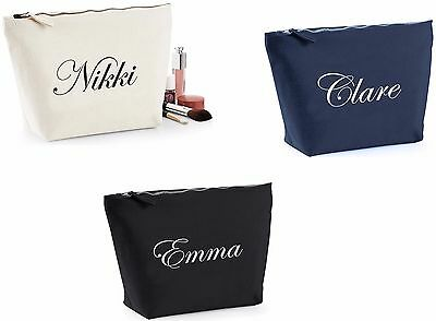 Personalised Make Up Bag Case Accessories Washbag Dance Bag Christmas Present
