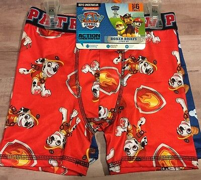 Nickelodeon Paw Patrol Boys Boxer Briefs 2 Piece Set Size 6 Small New