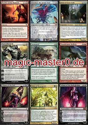 10 Mythic's Magic The Gathering Karten aus Sammlung Tarmogoyf, Emrakul, Liliana