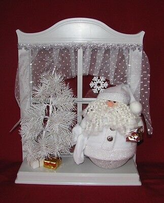 AVON Santa Lighted Window Display - NEW - Christmas Holiday Decorations