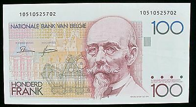 BELGIUM BANKNOTE 100 FRANCS (ND 1982-94) P142a FREE  S/H 2200