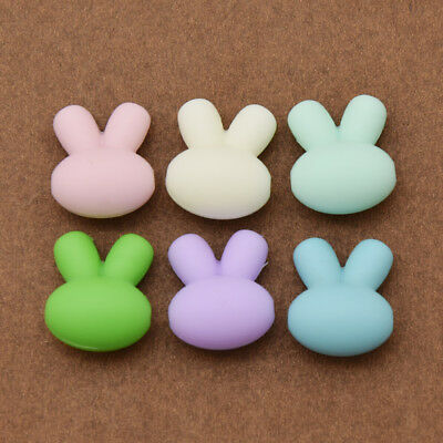 Silicone Cute Rabbit Beads Teething Food Grade Nursing Baby Safe Chew Toy Colors