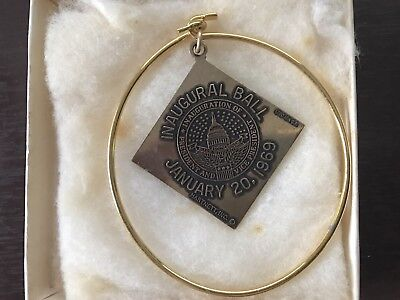 Vintage 10k Richard Nixon Inaugural Ball Charm 1969 Original Box