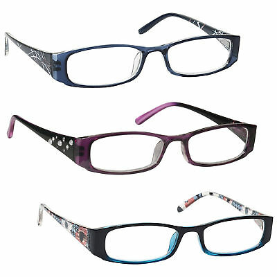 UV Reader Lightweight Reading Glasses Designer Style Womens Ladies Inc Bag