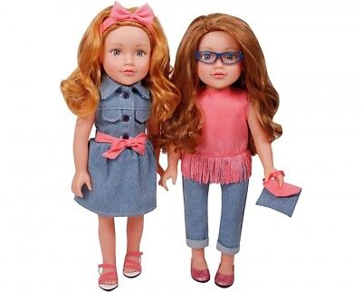 Chad Valley DesignaFriend Best Friend Dolls Meredith and Aaliyah 18 inches Tall