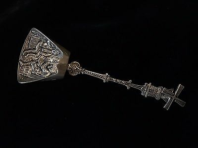 "Vintage Silverplate 5"" HOLLAND Windmill Souvenir Collector's Spoon"