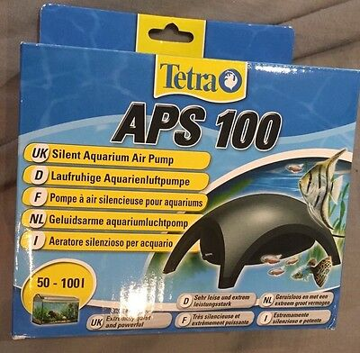 Aps 100 Tetra Aquarium Air Pump 50-100l Fish Tank New