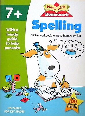 Spelling | Help with Homework | Age 7+ | Sticker Book |Guide to Help Parents|New