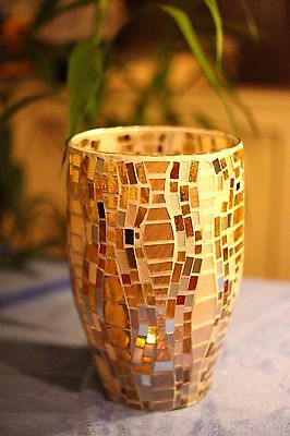 Partylite VIENNA LIGHTS HURRICANE SHIMMERING GOLD  NIB & NEW FOR FALL 2014