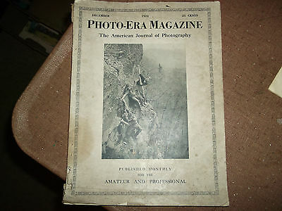 Collectible Vintage Photo-Era Magazine-December 1924-Amer Journal Of Photography