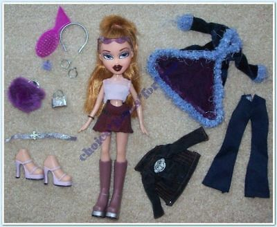 BRATZ MGA DOLL MEYGAN FUNK 'N' GLOW LIMITED ED 2003 ORIGINAL CLOTHING and ACCESS
