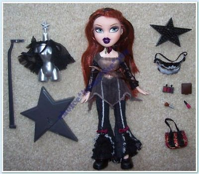 BRATZ MGA DOLL MEYGAN MIDNIGHT DANCE 2005 ORIGINAL CLOTHING and ACCESSORIES