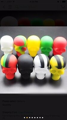 Skull Shaped 15 Ml Non Stick Silicone Container.