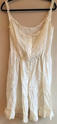 Antique Victorian Edwardian All In One Combination Pantaloons Camisole-Estate