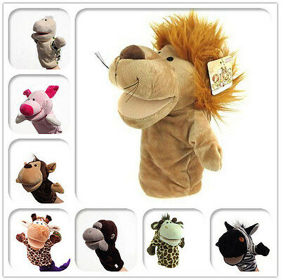 Child Kids Cute Plush Animals Hand Puppets Chic Designs Learning Aid Toys HOT