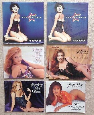 Frederick's of Hollywood Lot of 7 Vintage Calendars