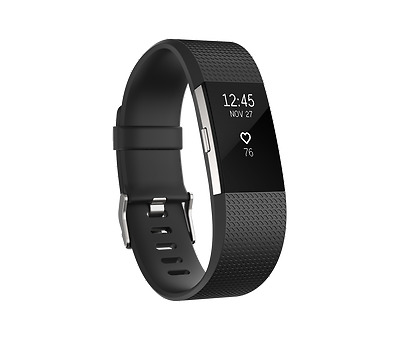 NEW Fitbit Charge 2 Black Silver Large