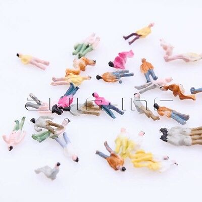 100x DIY Painted People Figure Model 1:200 Scale Z Gauge for Street Building