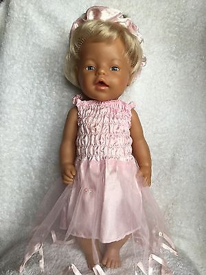 Very Realistic Zapf Creations Baby Doll In New Dress  45cm Tall VGC