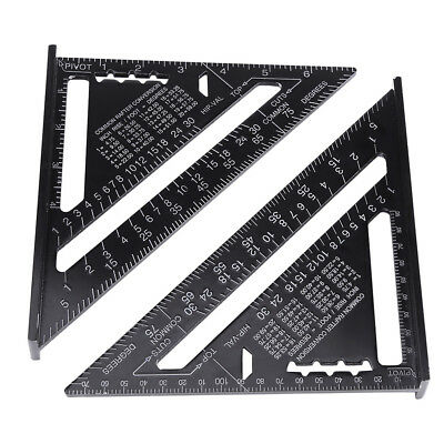 7 Inch Metric Aluminum Alloy Speed Square Roofing Triangle Angle Protractor Hot
