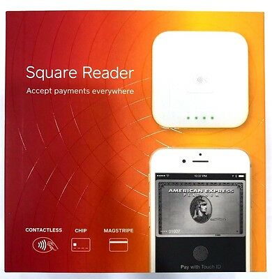 Brand New Square - Square contactless and chip reader - White