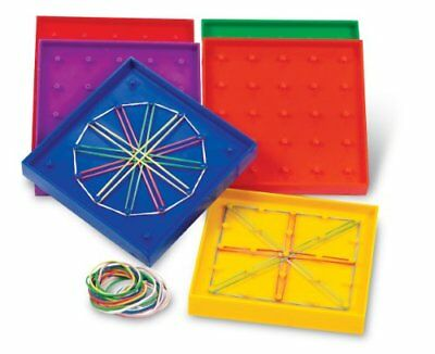 Geoboard Small 15cm 20 Bands Maths Teacher Education Learning Geometric Kids