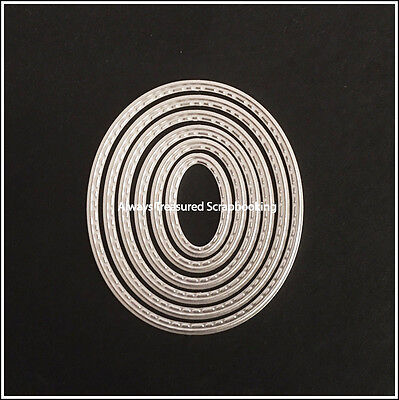 Nesting Small Ovals Metal Cutting Die Stencil Scrapbooking Craft Embossing Paper