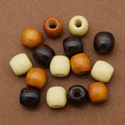 20 Pcs Wooden Dreadlock Hair Beads for Braid Hair Extension DIY Jewelry