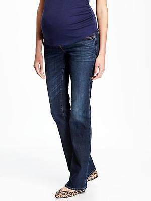 Old Navy Maternity Full Panel Boot Cut Bootcut Dark Blue Jeans Size 2 ~NWT~