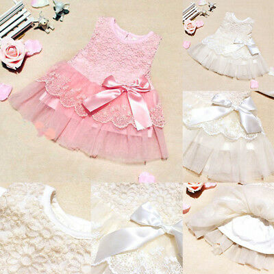 Newborn Baby Girl Lovely Party Princess Pageant Tutu Kids Flower Sweet Dress New
