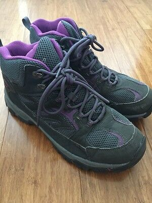 Hi Tec Women's Lima Waterproof Hiking Boots Graphite & Purple US11