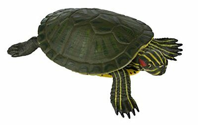 Red Eared Slider Turtle Statues Terrapin Realistic Hand Painted Toy Figurine New