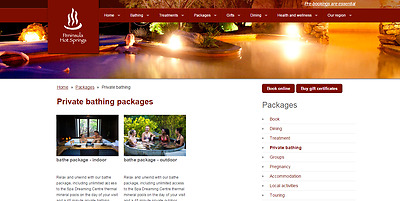 Discounted Peninsula Hot Springs Bathe and Private Bath Voucher For 2