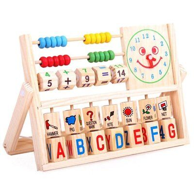 Kids Wooden Versatile Flap Learn Abacus Children Baby Educational Learning Toys