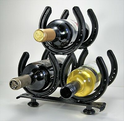 Horseshoe Wine Rack. Grizzly Bear. Shipping is Free