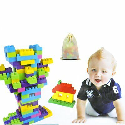 90pcs Kids Children Favor Plastic Puzzle Building Blocks Educational Toy Bricks